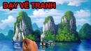Dạy vẽ tranh phong cảnh sơn thủy LH học vẽ tranh tường 0969 033 288 TT Mỹ Thuật Việt