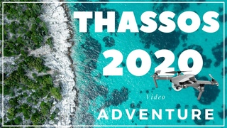 Thassos Island Greece July 2020  l  Video  Drone  4k  l  Beaches  and  Places