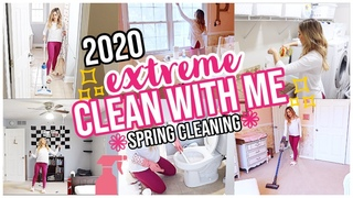 2020 EXTREME SPRING CLEAN WITH ME! HOUSE CLEANING MOTIVATION FOR HOMEMAKER + SAHM  K