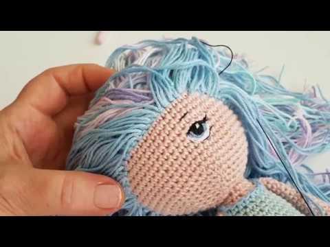 Amigurumi himzett szem 2 How to amigurumi doll embroide eyes 2