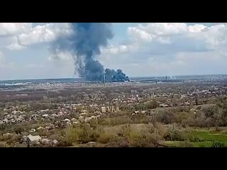 В Рубежном масштабный пожар