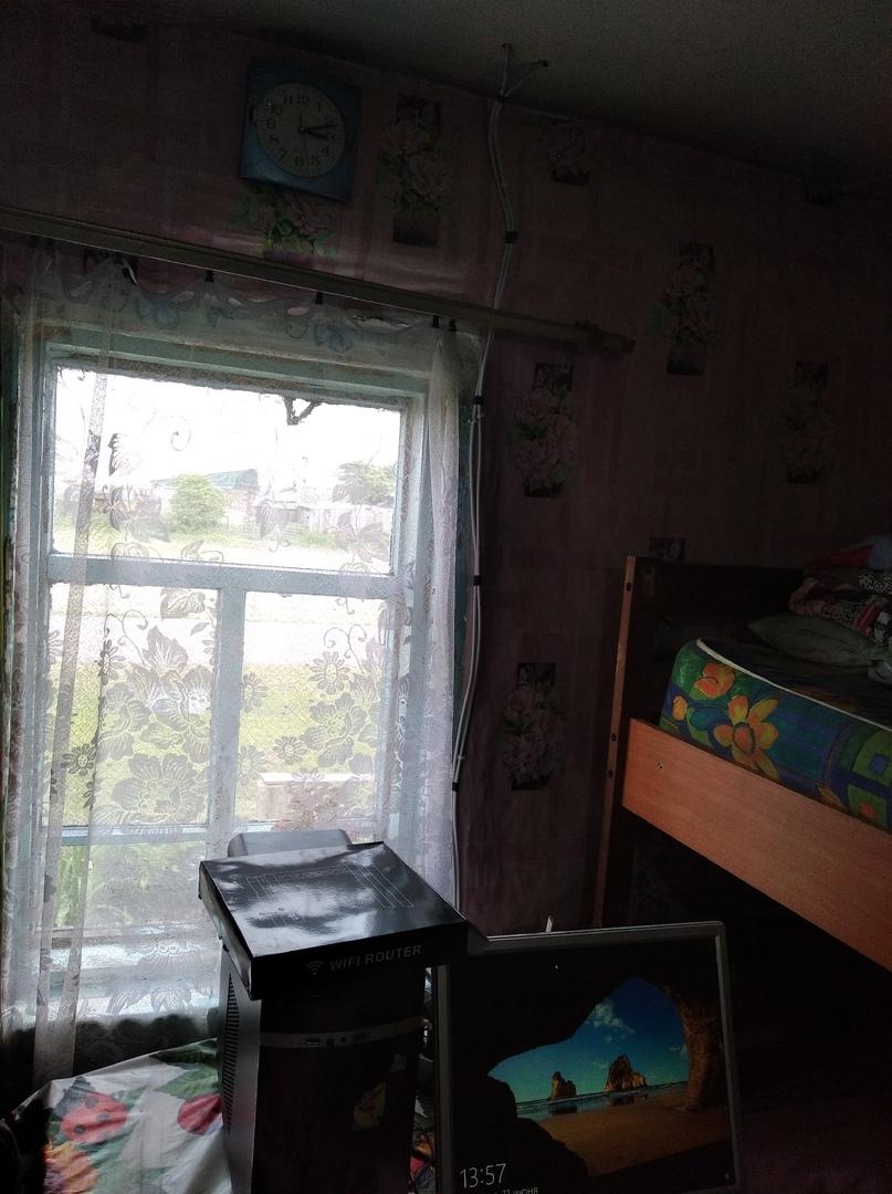 Установка №5 Дыры для кабеля пришлось делать в потолке!