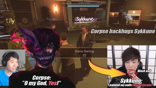 CORPSE'S REACTION WHEN HE SAW SYKKUNO PAINTED HIS NAILS FOR HIM