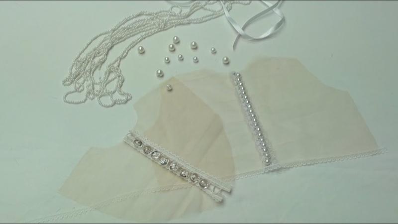 Застежка на воздушных петельках на спине из прозрачной эластичной сетки 2